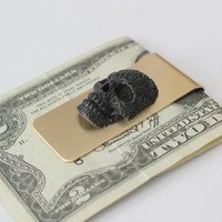 Black Sugar Skull Money Clip by mrd74 on Etsy