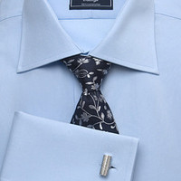 Men's Classic Plain Poplin Blue Shirt