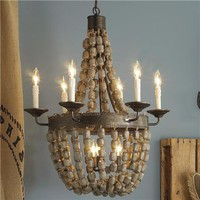 Beaded Basket Chandelier (ETA 1/24/11) 2 finishes! - Shades of Light
