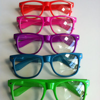Rave light show glasses - neon