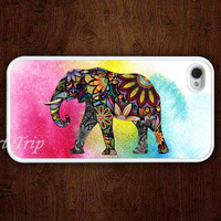 iPhone 4 Case, iphone 4s case --colorful Elephant iphone case, colorful elephant iphone 4 case, iphone case