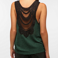 Sparkle & Fade Crochet-Back Sweater Tank