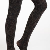Metallic Baroque Tights