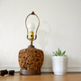 Mid Century Cork Lamp Works by nellsvintagehouse on Etsy