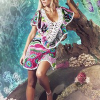 Paradizia Swimwear 2012 | Aqualina Cover Up | 7010-Aqul | Cacique Boutique