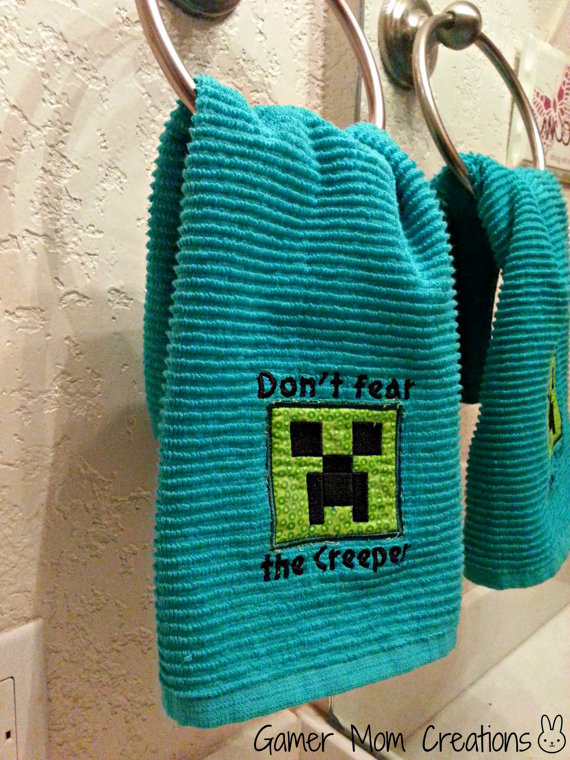 Minecraft Inspired, Creeper Bathroom Or From