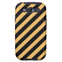 Beeswax Color And Oblique Black Stripes Pattern Galaxy S3 Case from Zazzle.com