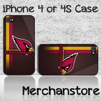 Arizona Cardinals NFL Team Logo Custom iPhone 4 or 4S Case Cover
