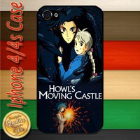 Howls Moving Castle Animated Fantasy iPhone 4 or 4S Case