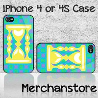 Unique Hourglass Pattern Custom iPhone 4 or 4S Case Cover