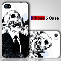 Skulls We Live No More Custom iPhone 5 Case Cover