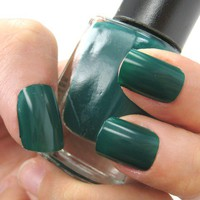 Dark Emerald Green - Vibrant Green Nail Polish Lacquer 9.8ml by nailartsupplies