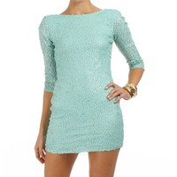 Mint Sequin Cocktail Dresses
