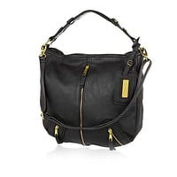 Black slouch shoulder bag