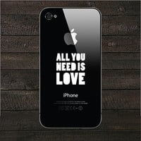 All you need is love iPhone Decal