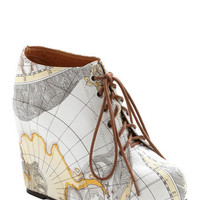 Jeffrey Campbell Travel Mapmaking Your Move Wedge