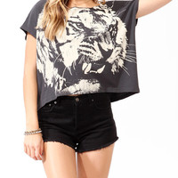 Oversized Tiger Graphic Top