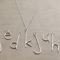 E is for Emmy, Pick Your Letter, Custom Initial Letter Necklace on Sterling Chain