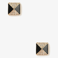 Sparkling Pyramid Studs