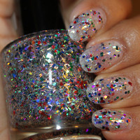 Aluminum Christmas Tree.. Custom made Glitter Nail Polish / Lacquer.. Full-Sized 15ml