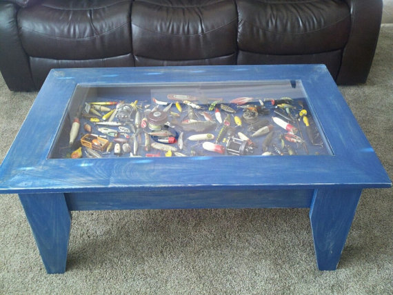 Custom Coffee Table With Hinged Lift Top From Jermcreationz On