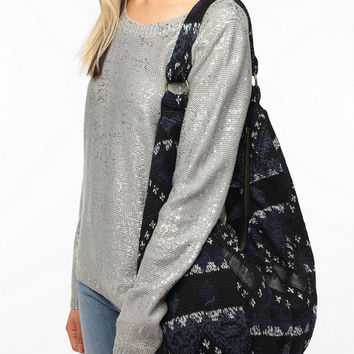 Urban Renewal Printed Sweater Hobo Bag
