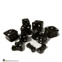 Square Black Dice Plugs | Double Flares | Square Shaped Plugs