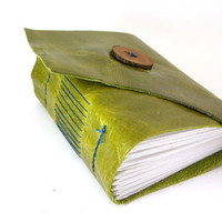 Leather Journal or Sketchbook - an Olive Tree (chunky)-