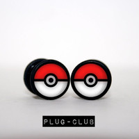 Poke Ball Fake Plugs, 4 styles by plug-Club