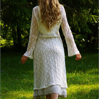 Linen lace cardigan for real Fairys...