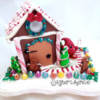 Parker&#x27;s Christmas Gingerbread House - Twelve Days of Christmas Polymer Clay Decoration