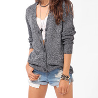 Longline Metallic-Blend Cardigan