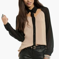 Way To My Heart Cutout Blouse $33