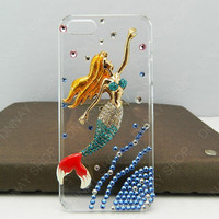 Fashion case Flying Apsaras  Pearl  Mermaid  iphone 5 case iphone 4 case iphone 4s case iphone 3 case