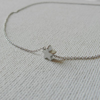 Silver star necklace - Sterling silver necklace - Silver pendant - Tiny necklace - Simple necklace, dainty everyday jewelry