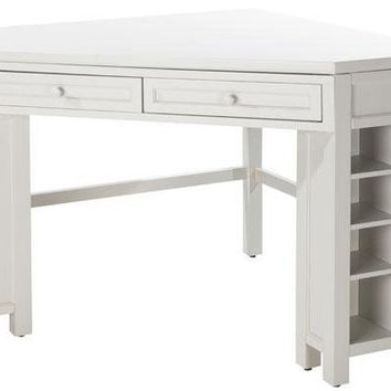 Martha stewart living craft space corner from home decorators for Corner craft table with storage