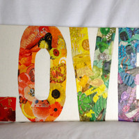 LOVE Collage Wall Art