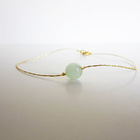 Anklet Gold Jade Chinese Good Luck Bracelet