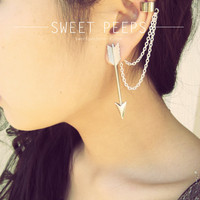 Silver Arrow Ear Cuff Set