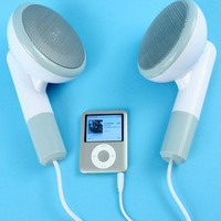 Fred & Friends 500XL GIANT Earbud Speakers | fredflare.com