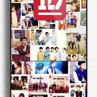 Personalized ONE DIRECTION 1D Logo Photo Collage Custom for Phone 4 iphone 4s Print iphone hard case for iphone 4, iphone 4S-plastic cover