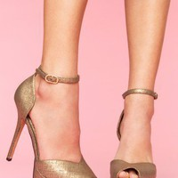 Marina Platform Pump - Gold - NASTY GAL