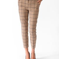 Essential Grid Pattern Capris