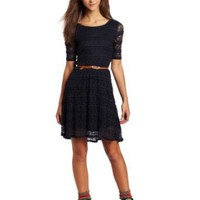 Amazon.com: Jolt Juniors Lace Detailed Dress: Clothing