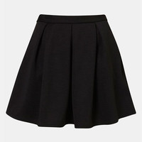 Topshop Pleated Ribbed Skater Skirt | Nordstrom