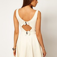 ASOS Skater Dress with Bow Back at asos.com