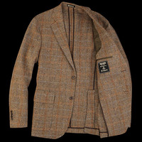 UNIONMADE - UNIONMADE Harris Tweed - Todd Snyder 2 Button Blazer in Brown Herringbone