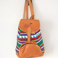 Vintage Ethnic Guatemalan Large Backpack