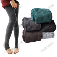 Comfortable Women's Cotton Tights Pants Stirrup Leggings Winter Warm Hotsale New