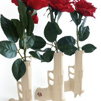Gun Vase : Ceramic wall vase inspired by peace